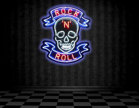 Rock N Roll Neon Skeleton
