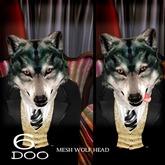 *6DOO* wolf head
