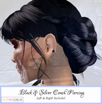 Second Life Marketplace Hpg Black Silver Outer Conch
