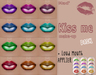 Mad' - Kiss Me Lips [Pack] - Tattoo + Loud Mouth Applier