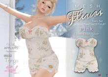 [LuVs] Fleurs Cami Set Pink + Tango Lush Appliers