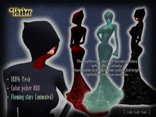 Mysterious Dress of Flowing Stars (animated) / 100% Mesh ★ Color picker HUD