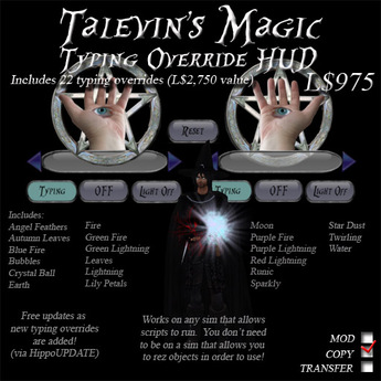 Talevin's Magic Typing Override HUD