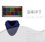 DRIFT Chunky Scarf [MESH] Cable Knit Set w/HUD-UNISEX