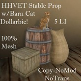 1 HHVET Stable Prop W/Barn Cat