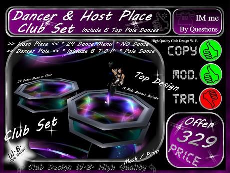 >>Club Dancer Pole * & * Host PLace  with Dance Menu <<      *