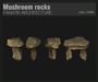 :Fanatik Architecture: Mushroom Rocks  - mesh stones - sim building / landscaping kit