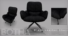 Botha Leather Chair  (Black Large)