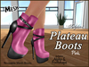 Plateau boots ad pink