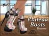 Plateau boots ad blossoms