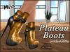 Plateau boots ad goldenglitter
