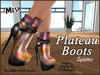 Plateau boots ad splatter