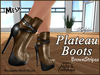 Plateau boots ad brownstripes