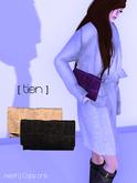 [ tien ] Jill's Leather Clutch Mono