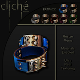 [CF] Spiked Leather Cuffs - Fatpack