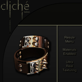 [CF] Spiked Leather Cuffs - Brown