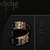 [CF] Spiked Leather Cuffs  - Black