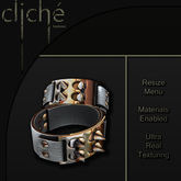 [CF] Spiked Leather Cuffs - White