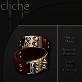 [CF] Spiked Leather Cuffs - Red