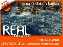 Real Waves model Ocean foam, animated water - Newest Version