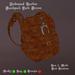 Embossed Leather Backpack Dark Brown