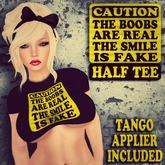 {Skankaholic} {Caution Half Tee}