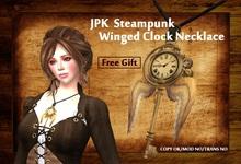 **JPK Steampunk Winged Clock Necklace BOX
