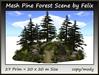 Mesh Pine Forest Scene 27 Prim=20x20m Size copy-mody