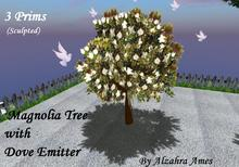 Magnolia Tree with Dove Emitter