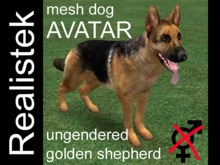 Realistek Mesh Dog Avatar - Shepherd gold ung (boxed)