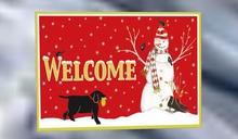 WELCOME MAT,SNOWMAN W/DOG