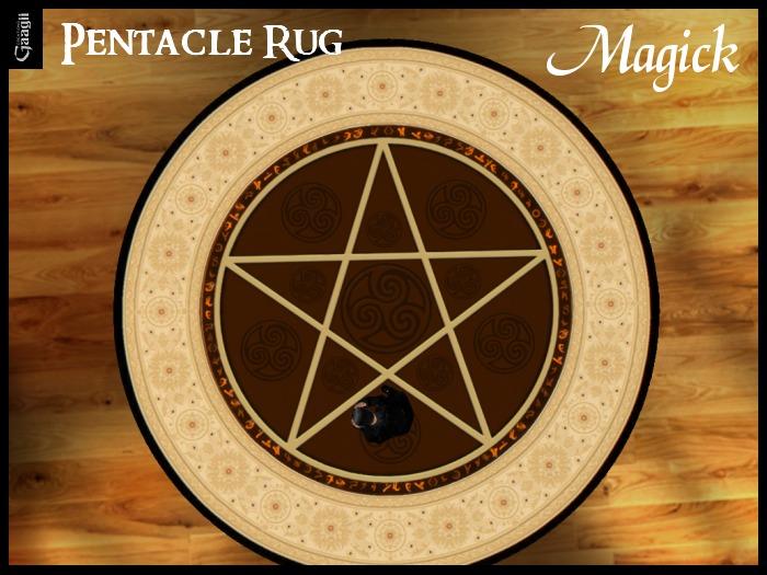 Gaagii 3D -  Pentacle Rug - Magick