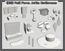 {XO} Full Perm Jetta Bathroom Set