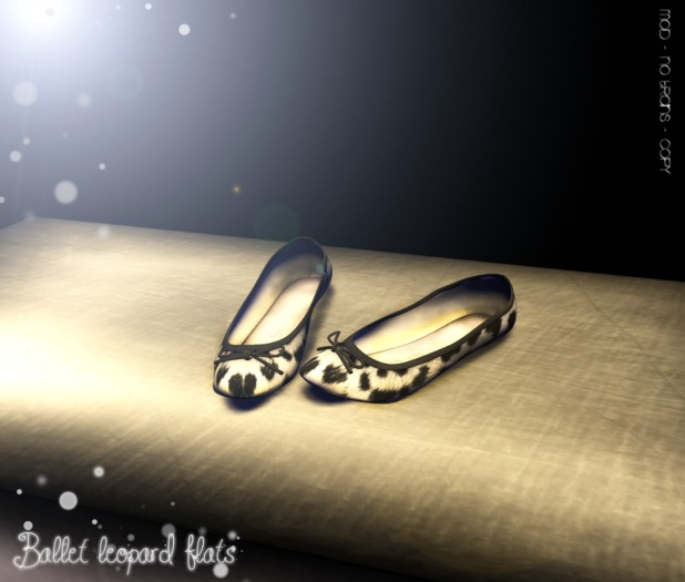 * [BE]lieve - Ballet Leopard white Flats