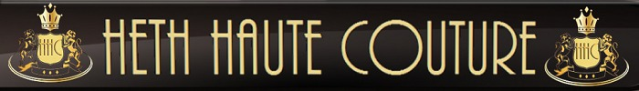 Heth couture glossy banner black 700x100