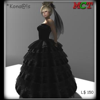 *Kona@!s Black long Dress