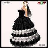 *Kona@!s Black&White long Dress
