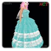 *Kona@!s blue&white long dress