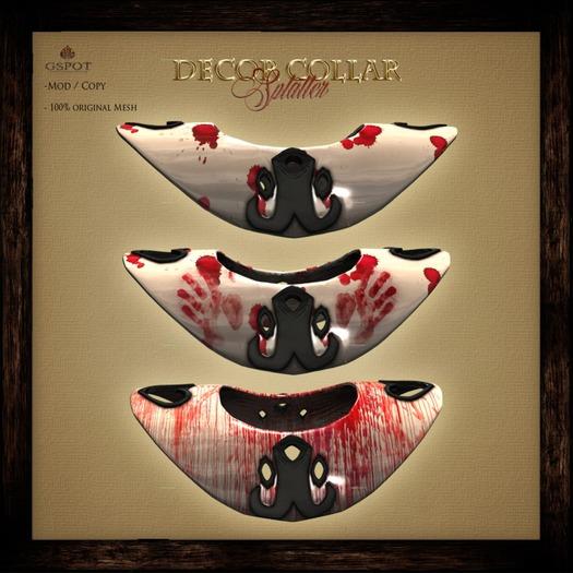 .:GSpot:. Decor Collar - splatter