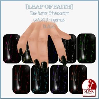 [LEAP of FAITH] Cracked - BLACKS Slink Fingernails Applier