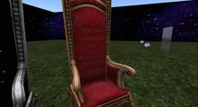 red royal throne with sit animations(boxed)