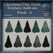 Texture Add-on For Christmas - Pine Tree Mesh Pack, Christmas Holiday Builders Decoration Kit,Textures Full Perm