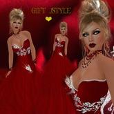 DRESS RED+SKIN+SHAPE+JEWELRY