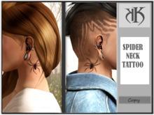 ::KK:: Spider Neck Tattoo