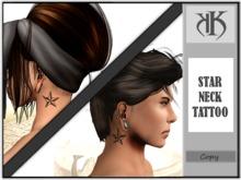 ::KK:: Star neck tattoo