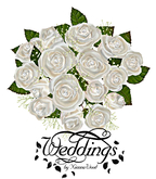 Classic White Rose Bridesmaid Bouquet - Trans Only