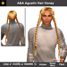 A&A Agustin Hair Honey (Special Color). Rather slim and tight fit unisex style with 4 braids.