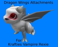 Vampire Rexie Dragon Wings Attachments