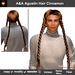 A&A Agustin Hair Cinnamon (Special Color). Rather slim and tight fit unisex style with 4 braids.