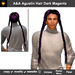 A&A Agustin Hair Dark Magenta (Special Color). Rather slim, tight fit unisex style with 4 braids